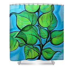 Botanical Leaves Shower Curtain