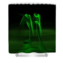 Botanical Life Force Shower Curtain by Peter R Nicholls