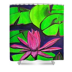 Botanical Lotus 1 Shower Curtain by Grace Liberator