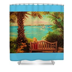 Shower Curtain featuring the painting Botanical View by Yolanda Rodriguez