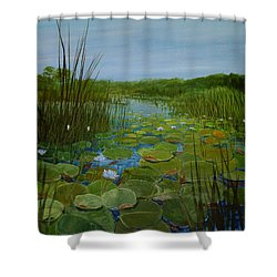 Botswana Lagoon Shower Curtain