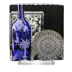 Bottle And Plate Shower Curtain
