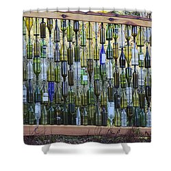 Bottle Fence Shower Curtain