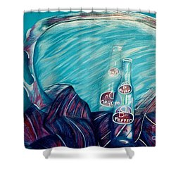 Bottle Reflection Shower Curtain