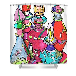 Bottle2010 Shower Curtain