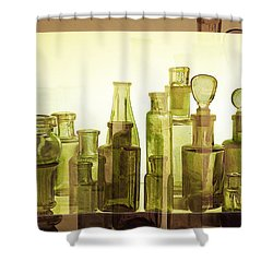 Shower Curtain featuring the photograph Bottled Light by Holly Kempe