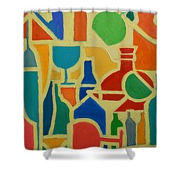 Bottles And Glasses 2 Shower Curtain by Ana Maria Edulescu