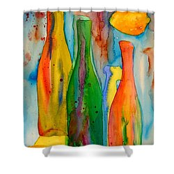 Bottles And Lemons Shower Curtain