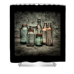 Bottles II Shower Curtain by Timothy Bischoff