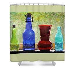 Da142 Bottles Of Time Daniel Adams Shower Curtain