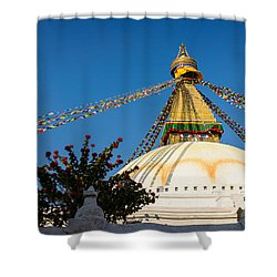 Boudhanath Stupa Shower Curtain