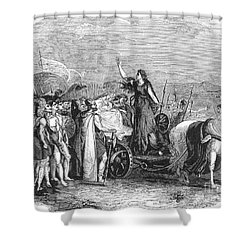 Boudica Leading British Tribes 60 Ad Shower Curtain by Photo Researchers