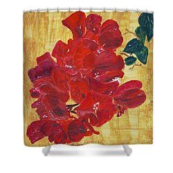 Shower Curtain featuring the painting Bougainvillea by Linda Feinberg