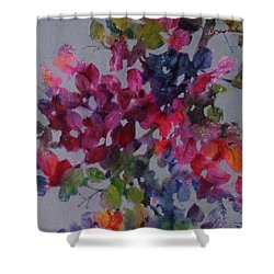 Shower Curtain featuring the painting Bougainvillea by Michelle Abrams