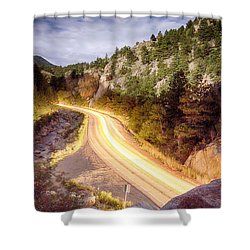Boulder Canyon Beams Of Light Shower Curtain by James BO  Insogna