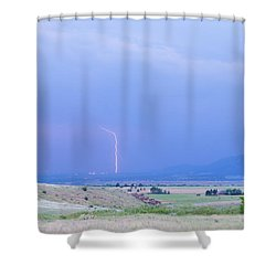 Boulder Colorado Lightning Strike Shower Curtain by James BO  Insogna