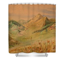 Boulder Colorado Painting Shower Curtain by Maestro