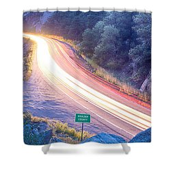 Boulder County Colorado Blazing Canyon View Shower Curtain by James BO  Insogna