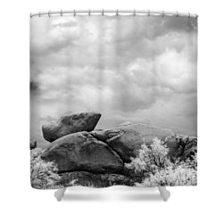 Boulders In Another Light Shower Curtain