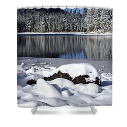 Boulders Of Mcleod Shower Curtain by Chris Brannen