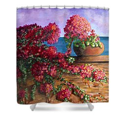 Bountiful Bougainvillea Shower Curtain