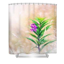 Flower In Digital Watercolor Shower Curtain
