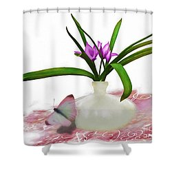 Bouque In Digital Watercolor Shower Curtain