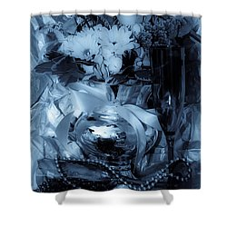 Bouquet And Beads Shower Curtain by DigiArt Diaries by Vicky B Fuller