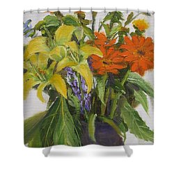 Bouquet Shower Curtain by Mohamed Hirji