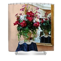 Bouquet Of Peonies With Reflection Shower Curtain by Susan Savad