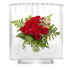 Bouquet Of Red Roses Shower Curtain by Elena Elisseeva
