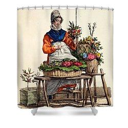 Bouquetiere Des Bouquets Pour Margot Shower Curtain by Carle Vernet