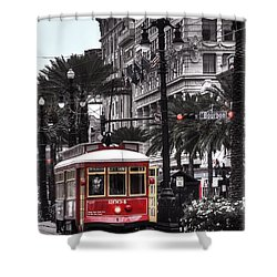 Bourbon And Canal Trolley Cropped Shower Curtain