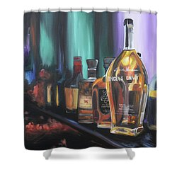 Bourbon Bar Oil Painting Shower Curtain