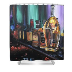 Bourbon Bar Oil Painting Shower Curtain