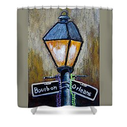 Bourbon Light Shower Curtain by Suzanne Theis