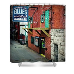 Bourbon Street Blues Shower Curtain by Linda Unger