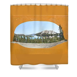 Bove Island Alaska Shower Curtain by Wendy Shoults