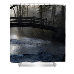 Bow Bridge At Valley Forge Shower Curtain by Bill Cannon