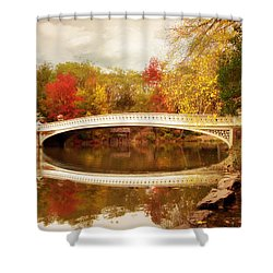 Shower Curtain featuring the photograph Bow Bridge Reflected by Jessica Jenney