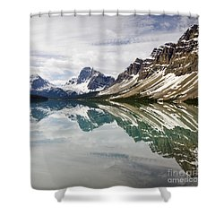 Bow Lake Shower Curtain by Dee Cresswell