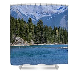 Bow River  Shower Curtain