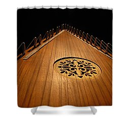 Bowed Psaltery Shower Curtain by Greg Simmons