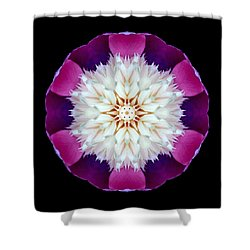 Bowl Of Beauty Peony II Flower Mandala Shower Curtain by David J Bookbinder