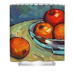 Bowl Of Fruit 2 Shower Curtain