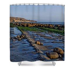 Bowling Ball Beach 01 Shower Curtain