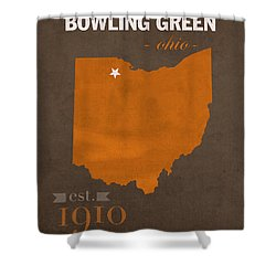 Bowling Green State University Falcons Ohio College Town State Map Poster Series No 021 Shower Curtain by Design Turnpike