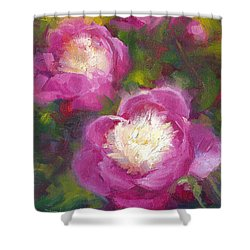 Bowls Of Beauty - Alaskan Peonies Shower Curtain by Talya Johnson