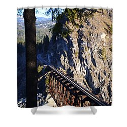 Box Canyon Dam Railroad Crossing Shower Curtain