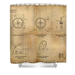 Box Gear And Housing Shower Curtain